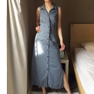 Faded Glory Button Down Sleeveless Long Dress.-Y2.